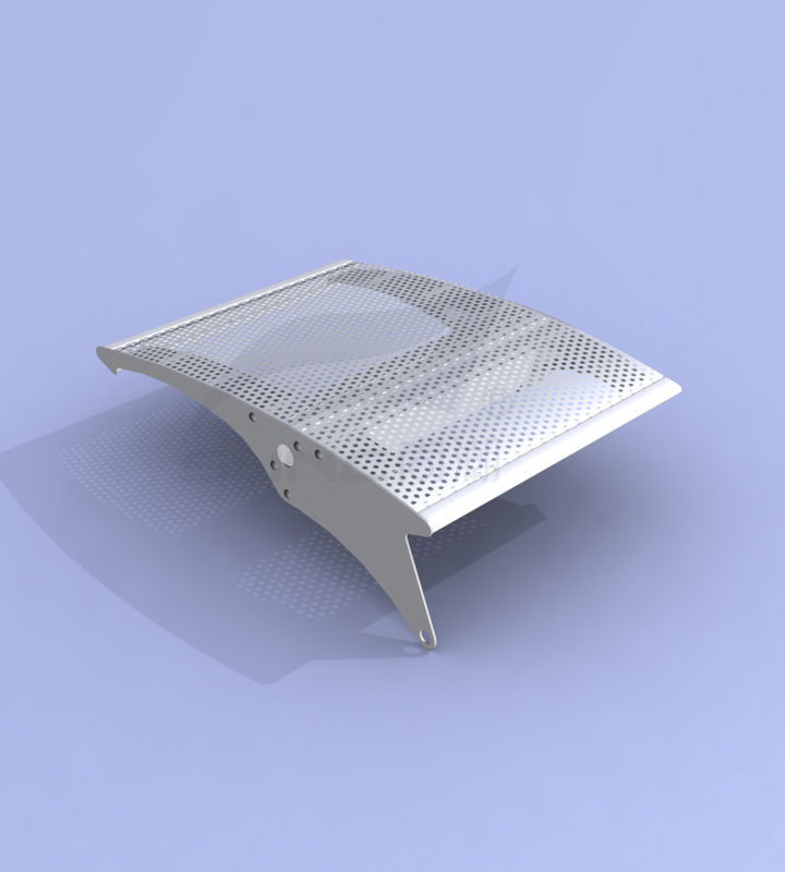 PVDF Coating Sun Shading Louvers Commercial Thickness 1.0~3.0mm Stable